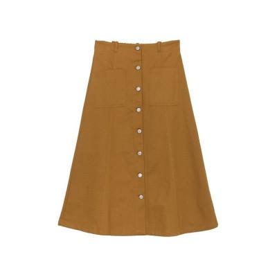 【リエディ】 綿グログランフロントボタンスカート レディース キャメル M Re:EDIT