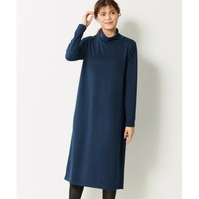 大きいサイズ 薄くてあたたかハイネックAラインニットソーワンピース【la farfa 21年1月号掲載】 ,スマイルランド, ワンピース, plus size dress