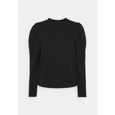 オブジェクト パーカー・スウェットシャツ レディース アウター OBJMEZA  - Sweatshirt - black