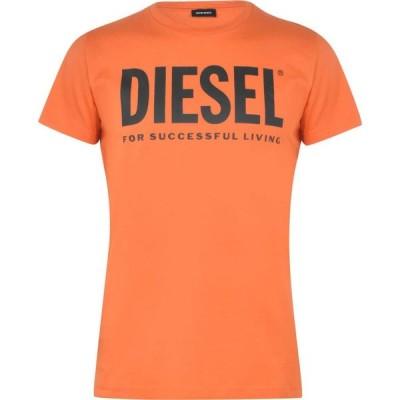 ディーゼル Diesel メンズ Tシャツ ロゴTシャツ トップス Text Logo T Shirt Orange L