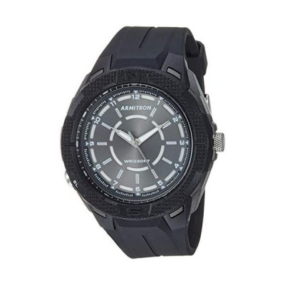 Armitron Sport Men's Japanese Quartz Sport Watch with Resin Strap, Black, 222.9 (Model: 20/5384GBK) 並行輸入品