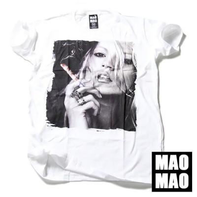 Tシャツ メンズ おしゃれ 半袖 ストリート系 Tシャツ レディース MAOMAO デザインTシャツ 不良 SMOKING 白色 S M L XLサイズ