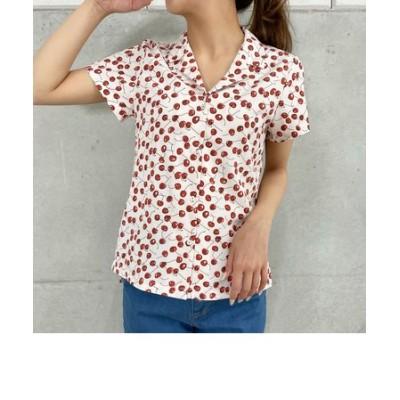 オープンカラーチェリーシャツ