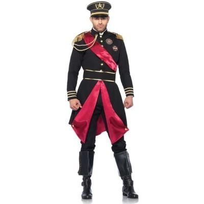 ミリタリー 軍 制服 衣装 コスチューム 大将 軍司令官 将軍 大人 男性 メンズ 黒 ハロウィン 仮装