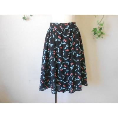 ダブルクローゼット w closet wears inc さくらんぼ チェリー プリント の 可愛い スカート F