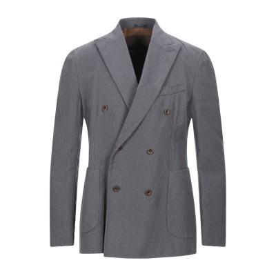 ボリオリ BOGLIOLI テーラードジャケット 鉛色 M コットン 94% / カシミヤ 5% / シルク 1% テーラードジャケット