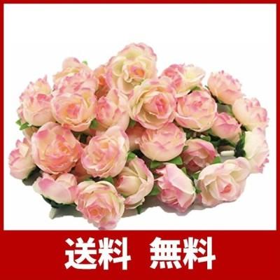 (Mikishin) バラ 造花 50個 3cm ブーケ ローズ 薔薇 結婚式 装飾 (ローズピンク)