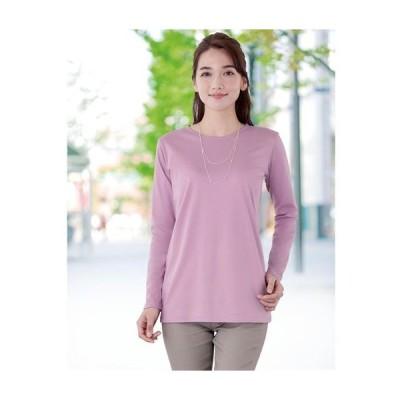 レディースファッション レディース トップス Tシャツ 柔らか着ごこちクルーネックプルオーバー(綿混) M L LL 3L|2960-430771