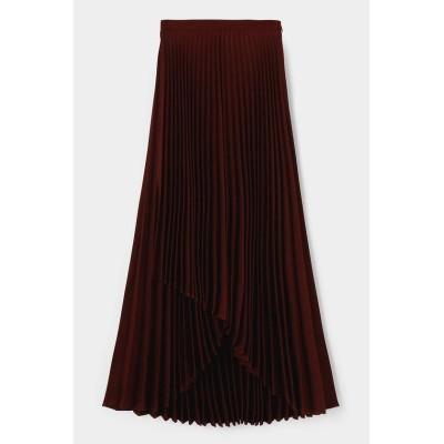 (moussy/マウジー)ASYMMETRY PLEATS スカート/レディース D/BRN3
