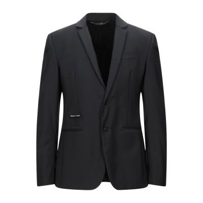 PHILIPP PLEIN テーラードジャケット ブラック 48 ポリエステル 53% / バージンウール 43% / ポリウレタン 4% テーラー