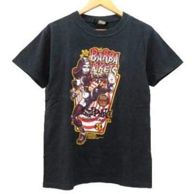 【中古】エロスティポップ EROSTY POP Tシャツ 半袖 ロッキンジェリービーン プリント カットソー S 黒 メンズ