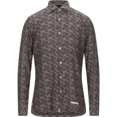 ティントリア マッティ TINTORIA MATTEI 954 メンズ シャツ トップス Patterned Shirt Dark brown