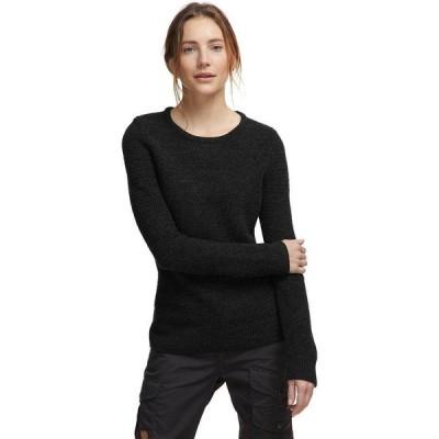 (取寄) フェールラーベン レディース Ovik ストラクチャー セーター Fjallraven Women Ovik Structure Sweater Dark Grey