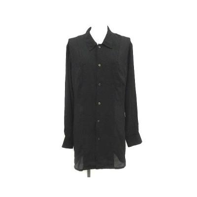 【中古】トリココムデギャルソン tricot COMME des GARCONS シアーシャツ ブラウス ロング シースルー 長袖 黒 ブラック /YM レディース 【ベクトル 古着】
