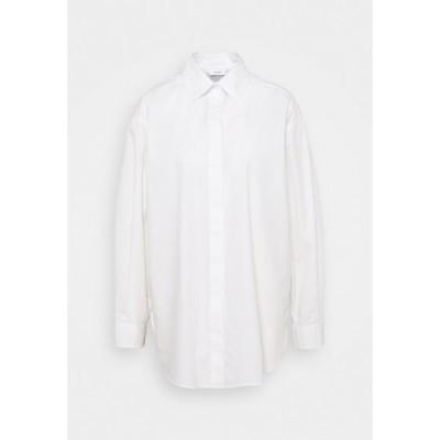 マルコポーロ デニム シャツ レディース トップス BLOUSE LONGSLEEVE - Blouse - scandinavian white
