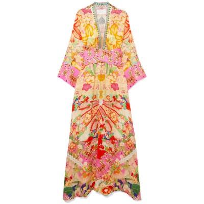 CAMILLA ビーチドレス あんず色 XL シルク 100% ビーチドレス