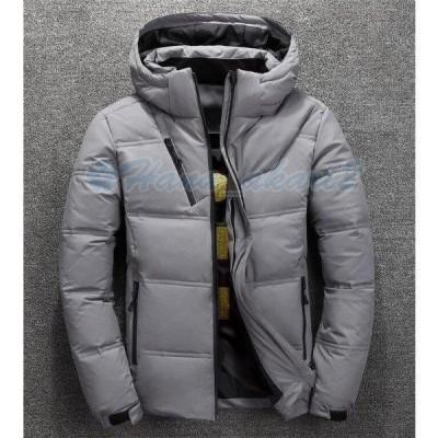 ダウンジャケット メンズ ダウンコート フード付き ライトジャケット 暖かい ライトアウター コート 秋 冬 防寒服 カジュアル