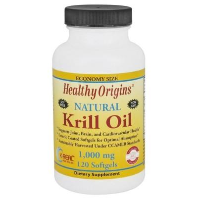 ヘルシーオリジン オキアミ油(K-リアル)1000 mg 120ソフトジェル【Healthy Origins】Krill Oil(K-Real) 120 Softgels