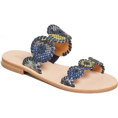 ジャックロジャース Jack Rogers レディース サンダル・ミュール シューズ・靴 lauren snake sandals Blue
