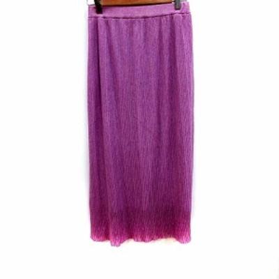 【中古】プロポーション ボディドレッシング PROPORTION BODY DRESSING スカート フレア マキシ FR 紫 レディース