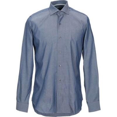 ウェブ&スコット WEBB & SCOTT CO. メンズ シャツ トップス Patterned Shirt Slate blue