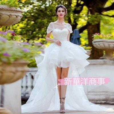 ロングドレス 結婚式 演奏会  フォーマル ウェディングドレス ウエディング 花嫁 パーティードレス 白 カラードレス 二次会 ドレス 花嫁 レース トレーン