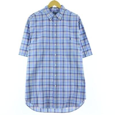ラルフローレン Ralph Lauren CLASSIC FIT クラシックフィット 半袖 ボタンダウンチェックシャツ メンズXXL /eaa147594