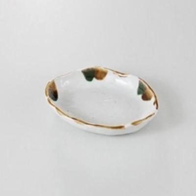 中皿 取り皿 変形皿 三彩流し 15.2cm 業務用 和食器 美濃焼 9b183-11