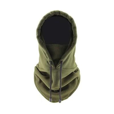 [ミラクルート] フード 付き ネックウォーマー フェイス カバー ガード マスク 冬 防風 防寒 保温 フリース 帽子 スキー おしゃれ