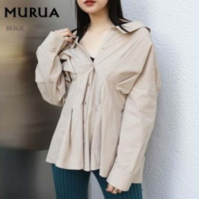 SALE40%OFF MURUA ムルーア 通販 ウエストシェイプオーバーシャツ 012010400601