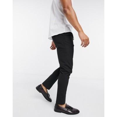 エイソス メンズ カジュアルパンツ ボトムス ASOS DESIGN skinny smart pants in black