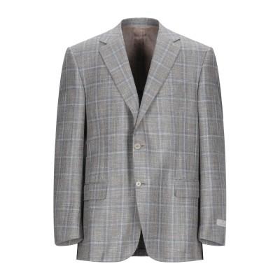 カナーリ CANALI テーラードジャケット グレー 56 ウール 68% / シルク 20% / リネン 12% テーラードジャケット