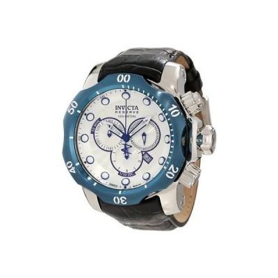 インヴィクタ 腕時計 Invicta 10781 メンズ Venom Reserve クロノグラフ シルバー テクスチャード ダイヤル 腕時計