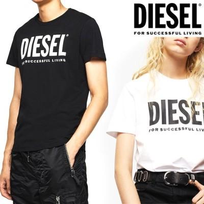 ディーゼル DIESEL メンズ Tシャツ 半袖 TEE ロゴ トップス T-DIEGO-LOGO 00SXED 0AAXJ 白 ホワイト ブラック 黒 男女兼用