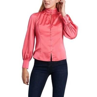 ヴィンスカムート カットソー トップス レディース Women's Keyhole Mock Neck Blouse Pink