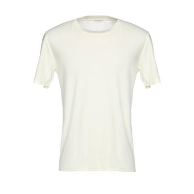 SAINT LAURENT T シャツ アイボリー S コットン 100% T シャツ