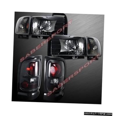 Tail light 94-01ダッジラムピックアップ用ユーロクリアブラックヘッドライト+テールライトのコンボセット  Combo Set of Eu
