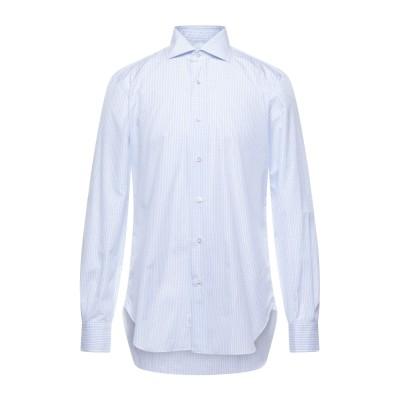 BARBA Napoli シャツ スカイブルー 39 コットン 100% シャツ