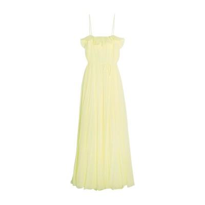 ADAM LIPPES 7分丈ワンピース・ドレス イエロー 10 ポリエステル 100% / シルク 7分丈ワンピース・ドレス