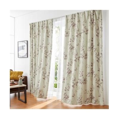 リーフ柄1級遮光カーテン&レースセット カーテン&レースセット, Curtains, sheer curtains, net curtains(ニッセン、nissen)