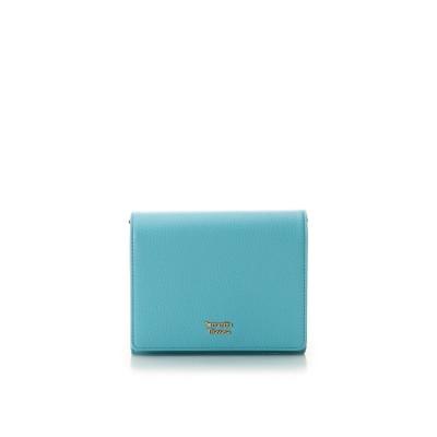 サマンサタバサ スプリングカラー 折財布 ターコイズ