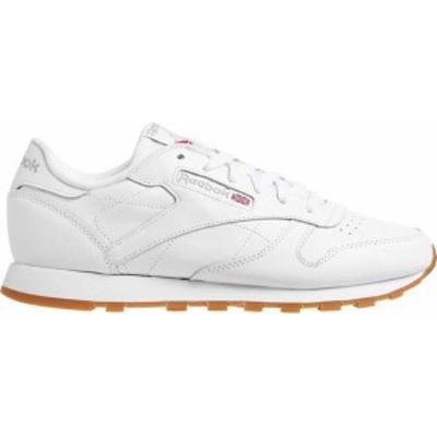 リーボック レディース スニーカー シューズ Reebok Women's Classic Leather Shoes White/Gum
