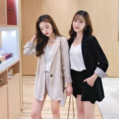 セットアップ レディース 夏 キュロットパンツ テーラードジャケット  上下セット 夏服 レディース 韓国 ファッション レディース  ジャ