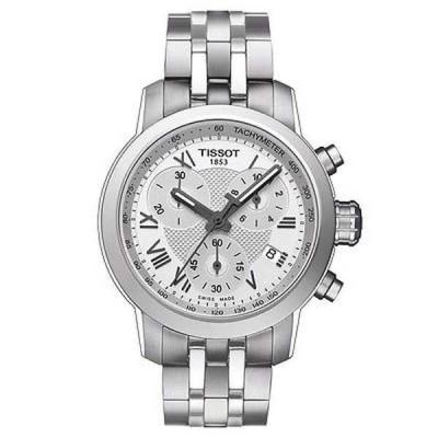 腕時計 ティソット Tissot レディース T0552171103300 'PRC 200' クロノグラフ ステンレス スチール 腕時計