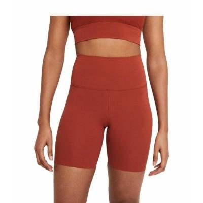 """ナイキ ハーフ&ショーツ ボトムス レディース The Yoga Luxe 7"""" Shorts Rugged Orange/Light Sienna"""