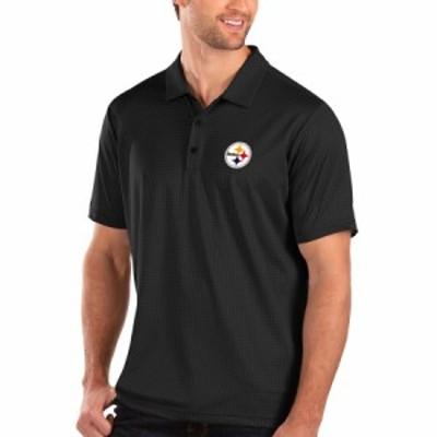 """メンズ ポロシャツ """"Pittsburgh Steelers"""" Antigua Balance Polo - Black"""