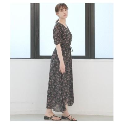 (Avan Lily/アヴァンリリィ)【TVドラマ着用】BOBBIE FLOWERパフスリーブワンピース/レディース BLK