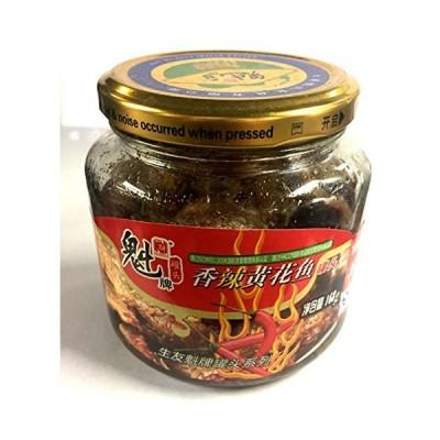 キグチ揚げ(ピリ辛味)168g 香辣酥炸黄花魚缶頭 瓶装香辣黄花?罐? 魁牌