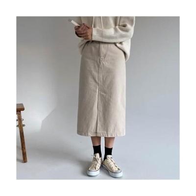 レディース スカート Monaco cotton long skirt