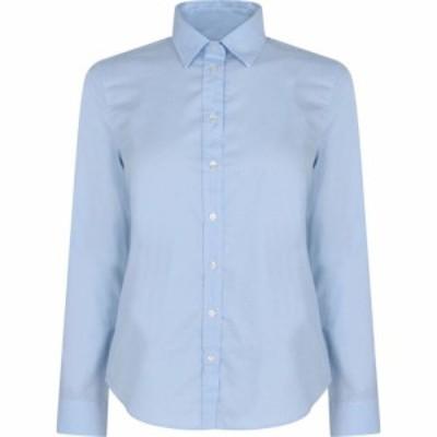 ガント Gant レディース ブラウス・シャツ スリム ワイシャツ トップス Slim Oxford Shirt LIGHT BLUE